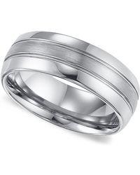 Triton - Men's Tungsten Carbide Ring, Comfort Fit Wedding Band (8mm) - Lyst
