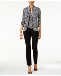 Alex Evenings - 2-pc. Mandarin Jacket & Shell - Lyst