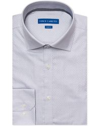 Vince Camuto - Slim-fit Comfort Stretch Grey Mini Dobby Dress Shirt - Lyst