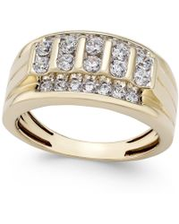 Macy's - Men's Diamond Elevated Cluster Ring (3 Ct. T.w.) In 10k Gold - Lyst