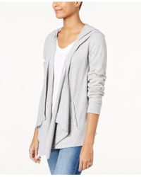 INC International Concepts - Hooded Open-front Cardigan - Lyst