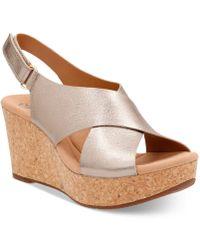 ee6bb433a90 Clarks - Women s Annadel Eirwyn Wedge Sandals - Lyst