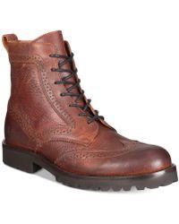 Frye - Men's Earl Wingtip Boots - Lyst
