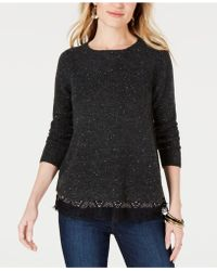 Style & Co. - Petite Mixed-material Layered-look Jumper, Created For Macy's - Lyst