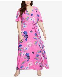 RACHEL Rachel Roy - Trendy Plus Size Ruffled Maxi Dress - Lyst