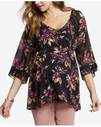 Jessica Simpson - Maternity Floral-print Blouse - Lyst