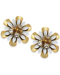 Kate Spade - 14k Gold-plated Bead & Crystal Coated Stud Earrings - Lyst