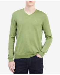 CALVIN KLEIN 205W39NYC - Men's Solid V-neck Sweater - Lyst