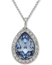 """Givenchy - Pavé & Stone Pear Pendant Necklace, 16"""" + 3"""" Extender, Created For Macy's - Lyst"""