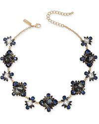 "INC International Concepts - I.n.c Gold-tone Stone & Lace Collar Necklace, 16"" + 3"" Extender, Created For Macy''s - Lyst"