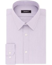 DKNY - Slim-fit Stretch Stripe Dress Shirt, Created For Macy's - Lyst