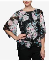 Alex Evenings - Floral-print Tiered Top - Lyst