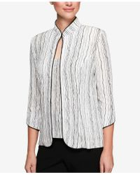 Alex Evenings - Petite Printed Embellished Jacket & Shell - Lyst