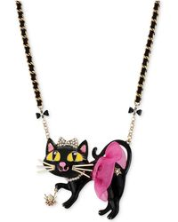 Betsey Johnson | Antique Gold-tone Tutu Cat Pendant Necklace | Lyst