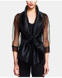 Adrianna Papell - Organza Wrap Jacket - Lyst