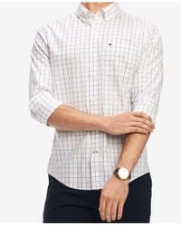 735be49f Tommy Hilfiger - Classic Fit Multicolor Check Print Shirt, Created For  Macy's - Lyst