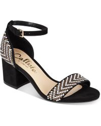 Callisto - Nessa Two-piece Block Heel Dress Sandals, Created For Macy's - Lyst