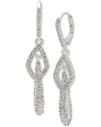 Anne Klein - Pavé Multi-link Drop Earrings - Lyst