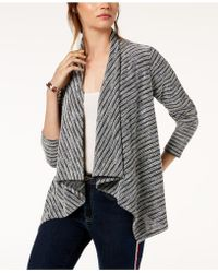 Tommy Hilfiger - Draped Tweed Open-front Cardigan, Created For Macy's - Lyst