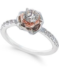 Macy's - Diamond Bouquet Engagement Ring (3/4 Ct. T.w.) In 14k White And Rose Gold - Lyst