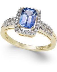 Macy's - Tanzanite (7/8 Ct. T.w.) And Diamond (1/5 Ct. T.w.) Ring In 14k Gold - Lyst
