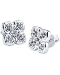 Charriol - Le Fleur Sterling Silver Earring With White Topaz - Lyst