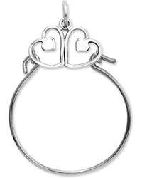 Macy's - 14k White Gold Charm Holder, Heart Charm Holder - Lyst