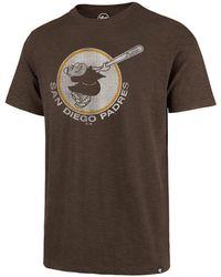 47 Brand - San Diego Padres Scrum Logo T-shirt - Lyst