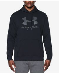 Under Armour - Men's Rival Fleece Logo Hoodie - Lyst