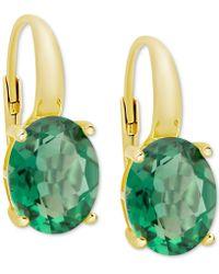 Macy's - Green Quartz Drop Earrings (4-3/4 Ct. T.w.) In 14k Gold-plated Sterling Silver - Lyst