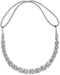 Badgley Mischka - Silver-tone Crystal Headband - Lyst