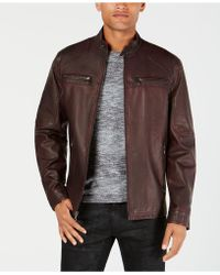 INC International Concepts - Washed Moto Jacket, Created For Macy's - Lyst
