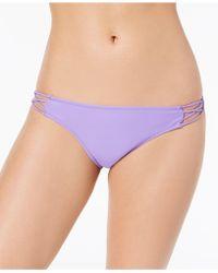 Volcom - Simply Solid Cheeky Bikini Bottoms - Lyst