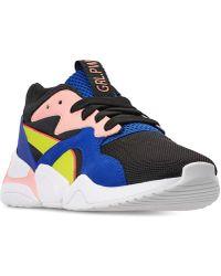 0393c245e9a2 Lyst - Puma Women s Nova Colorblocked Sneakers in White