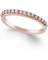 Macy's - Diamond Ring In 14k White, Yellow Or Rose Gold (1/4 Ct. T.w.) - Lyst