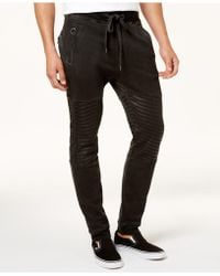 True Religion | Men's Tapered Fleece Moto Sweatpants | Lyst