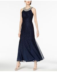 R & M Richards - Embellished Lace Gown - Lyst