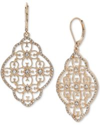 Lonna & Lilly - Gold-tone Crystal Filigree Chandelier Earrings - Lyst