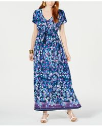 d5dcf325e9df INC International Concepts I.n.c. Petite Scarf-print Maxi Dress, Created  For Macy's in Black - Lyst