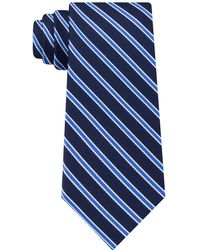 Tommy Hilfiger - Tricolor Stripe Silk Tie - Lyst