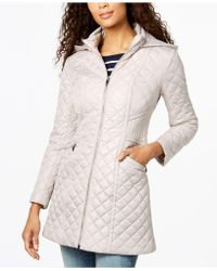 Via Spiga - Quilted Coat - Lyst
