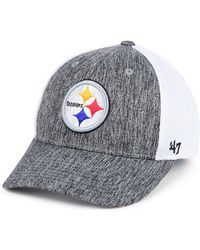 263d82125 47 Brand - Pittsburgh Steelers Hazy Flex Contender Stretch Fitted Cap - Lyst