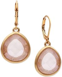 Lonna & Lilly - Gold-tone Teardrop Stone Drop Earrings - Lyst