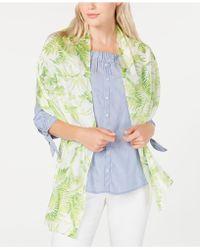 Echo Tropical Toile Silk Oblong Scarf - Green