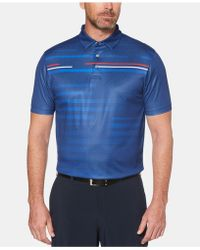 PGA TOUR - Motionfluxtm Performance Stretch Moisture-wicking Broken Shadow-stripe Polo - Lyst