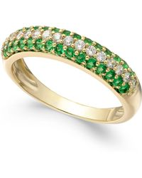 Macy's - Sapphire (1/2 Ct. T.w.) & Diamond (1/4 Ct. T.w.) Ring In 14k White Gold (also Emerald And Ruby) - Lyst