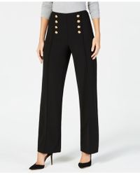 INC International Concepts - I.n.c. Button Wide-leg Pants, Created For Macy's - Lyst