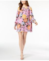 French Connection - Pleated Shift Dress - Lyst