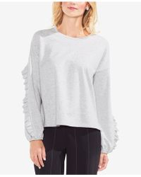 Vince Camuto - Ruffled-sleeve Jumper - Lyst