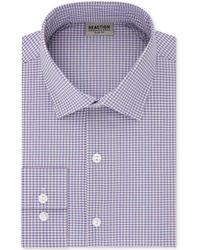Kenneth Cole Reaction - Techni-cole Slim-fit Flex Collar Three-way Stretch Performance Blue Check Dress Shirt - Lyst